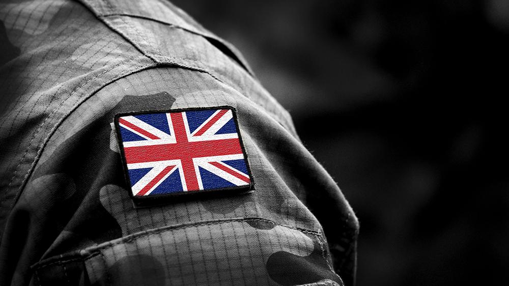 Union Jack Flag on Arm